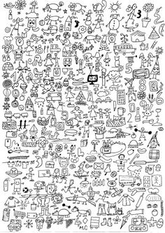 cherche et trouve - chez Camille | could be used as a large poster for students to colour on when they become fidgety