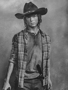 the-walking-dead-6-temporada-silver-portrait-chandler-riggs-carl-grimes