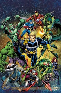Avengers & Guardians of the Galaxyby Mark Bagley