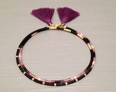 Multi Color Beaded Friendship Bracelet Tassel by feltlikepaper