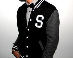 Varsity jacket & bow tie