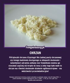 PÓŁ ŁYŻECZKI CHRZANU DOSKONALE POMAGA NA... Health Advice, Good Advice, Good To Know, Health And Beauty, Tricks, Fun Facts, Life Hacks, Diy And Crafts, Remedies