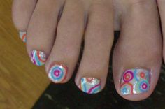 all you would need is a base coat and a skinny nail brush this would be so easy  and too cute for the summer