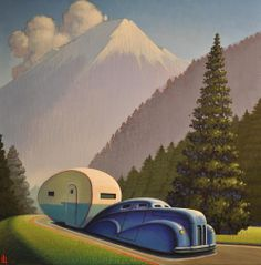 /\ /\ . Robert W. LaDuke, Mountain Road