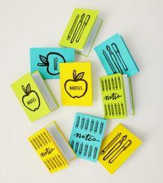 Printable Back to School Mini Notebooks