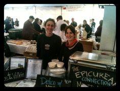 Karina & Sheana serving up Delice de la Vallee at the California Artisan Cheese Festival