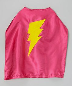 Pink cape with yellow bolt is now $11.99!