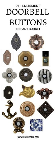 Replacing Our Door Bell Button 75 Statement Door Bell Buttons Diy Furniture Building, Door Furniture, Sell Diy, Diy Crafts To Sell, Doorbell Button, Diy Home Decor Bedroom, Diy Entertainment Center, Craft Projects For Kids, Vintage Fashion