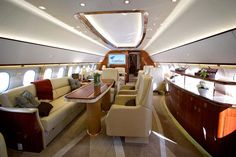 "Owners of the Airbus ACJ319 can give the interior a custom fit out to meet their needs, with leather seats and couches, polished dining tables and even double beds.""Our market is to billionaires, not millionaires."""