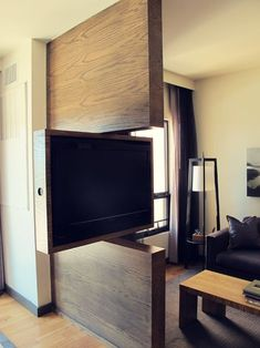 TV Swivel Concepts – Very Practical And Perfect For Modern Homes TV Swivel Concepts – Very Practical And Perfect For Modern Homes Sala Grande, Swivel Tv, Tv Wall Design, Home Tv, Hidden Storage, Cool House Designs, Tiny Living, Living Room, Home Interior Design