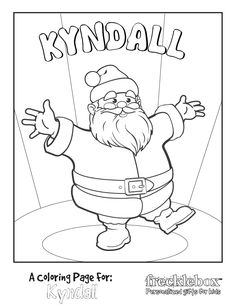 Personalize Your Own Santa Coloring Page