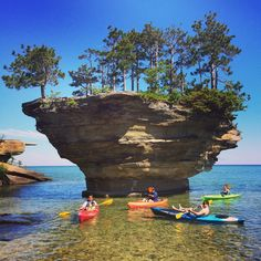 Turnip Rock, Huron County, Michigan - Turnip rock - Port Austin, MI. Unfortunately it's on private property so you have to kayak to get there but there are rentals in town and its a nice trip.