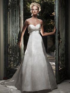 Duchesse Silk Sweetheart Empire A-line Wedding Dress Couture Satin ee01a1c2912e