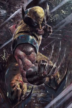 A collection of Marvel comic book artwork from the golden age of comics to the present. Marvel Wolverine, Hq Marvel, Marvel Comics Art, Marvel Heroes, Logan Wolverine, Captain Marvel, Logan Xmen, Captain America, Comic Book Characters