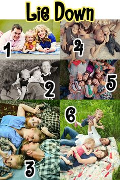 Some great family photo ideas, sorted into categories!