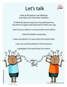 I-Can statements for positive communication