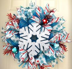 Deluxe Christmas Silver Snowflake Holidays by NicoleDCreations, $95.00