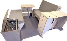 VW T5 SWB amdro angel assembled furniture kit