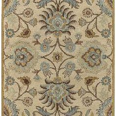 @Overstock - An elegant Oriental design highlights this hand-tufted wool rug. This area rug features shades of beige, gold, light blue, kerry blue, light brown, mocha brown, ivory and grey.http://www.overstock.com/Home-Garden/Hand-tufted-Coliseum-Beige-Wool-Rug-8-x-11/4118643/product.html?CID=214117 $348.29