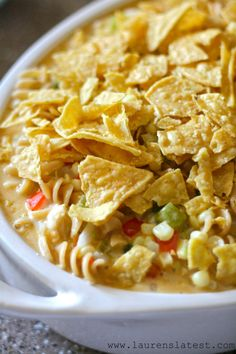Cheesy Chicken Southwest Pasta Casserole. Need a delicious pasta casserole recipe for dinner? You've found one!