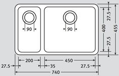 Franke Stainless steel Undermount bowl sink available from Cameo Kitchens Bowl Sink, Diagram, Stainless Steel, Kitchen, Utility Sink