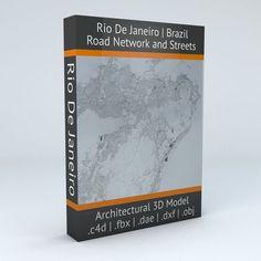 Rio De Janeiro Road Network and Streets | 3D Model