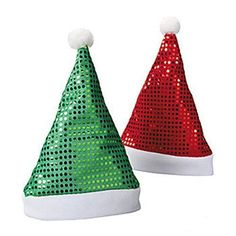 Now available on our store  Polyester Sequin ... Check it out here! http://christianbookandtoys.com/products/polyester-sequin-santa-hats-red-and-green-assortment?utm_campaign=social_autopilot&utm_source=pin&utm_medium=pin