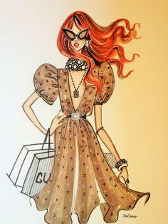 ORIGINAL Fashion Illustration-Style on the go by loveillustration