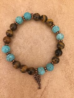 A personal favorite from my Etsy shop https://www.etsy.com/listing/507211808/blue-turquoise-gemstone-bracelet