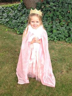 Pink Princess cape with boa collar on Etsy at TinyChums. This will make any little girl feel like a princess.