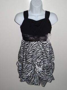 Girl's Amy's Closet Black/White Dress Size 16.5, 18.5, & 20.5 Plus MSRP $60.00 #AmysCloset #DressyPageant