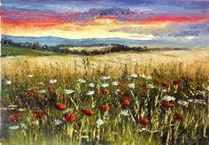 Sunset's Wildflowers by Kasia1989 on DeviantArt
