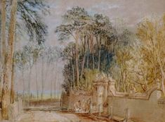 Joseph Mallord William Turner 'Gateway to the Flower Garden at Farnley', c.1815 courtesy Private Collection, UK