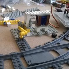 Working on #arduino controlled switch. #Lego #trains #train by bricksandrobots