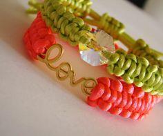 Neon Love Bracelets by yespupa on Etsy, $25.90