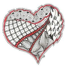 Zentangle I Give You My Heart