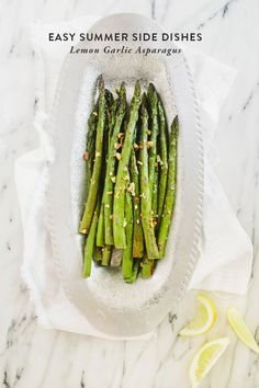 Easy summer sides: Lemon Garlic Asparagus - Say Yes to Hoboken