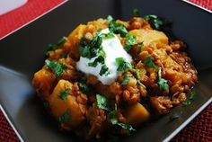 Crock Pot Pumpkin Lentil Stew