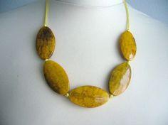 #bridesmaid #necklace #yellow etsy $29