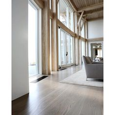 Woodwrights Oak interior architecture. pale and gray interiors via nydc