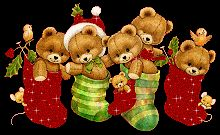 Christmas Stockings w/ bears Christmas Teddy Bear, Christmas Animals, Christmas Pictures, Christmas Art, Vintage Christmas, Christmas Stockings, Christmas Graphics, Christmas Clipart, Christmas Greetings