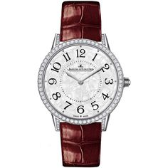 Jaeger LeCoultre Rendez-Vous Ivy Automatic 34mm 3563430 Watch ($20,160) ❤ liked on Polyvore featuring jewelry, watches, ivy jewelry, ivy leaf jewelry, leaves jewelry, white gold jewelry and jaeger lecoultre watches