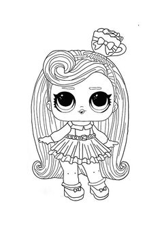 You can find here 24 free printable coloring pages of LOL Surprise Hairvibes series dolls. Best coloring pages from different LOL Surprise series. Star Coloring Pages, Free Coloring Sheets, Cartoon Coloring Pages, Disney Coloring Pages, Free Printable Coloring Pages, Coloring Pages For Kids, Coloring Books, Barbie Coloring Pages, Colouring