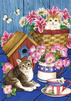 Patriotic Kitties House Flag by Toland Home Garden. Save 62 Off!. $15.26. Heat sublimated process permanently dyes flag fabric for long-lasting color. All Toland Flags are machine washable. Toland Flags are UV, Mildew, and Fade Resistant. Decorative Art Flag. Toland Flags are made from durable 600 denier polyester. Patriotic Kitties Standard Flag 28 by 40