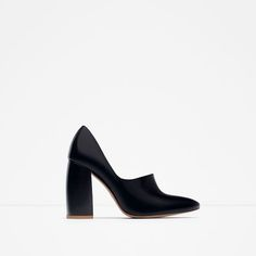 Image 1 of BLOCK HEEL LEATHER SHOES from Zara