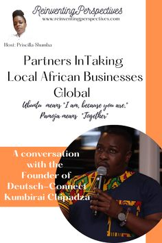 """If you ever wondered, """"Are entrepreneurs born or made?"""" here is a story that will inspire you to know that both are possible. Business consultant, Founder and CEO of Deutsch Connect, Kumbirai Chipadza, shares how his journey as an entrepreneur from Sub Saharan Africa poised him for the opportunity to link business in Germany with his love for the African continent. #BusinessPartnerships #Collaboration #PanAfricanism #AfricanEntrepreneurs #Ubuntu #Pamoja #ChristianEntrepreneurship Pan Africanism, Entrepreneurship, Collaboration, Opportunity, Connection, Germany, Journey, Inspire, Christian"""