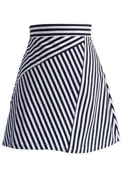 Stripes Sassy Fitted Bud Skirt - New Arrivals - Retro, Indie and Unique Fashion
