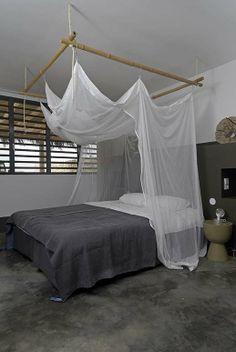 Piet Boon Villa's Bonaire door Bon Travel, voorheen Bonaire Fun Travel, mosquito net from; www.klamboe.com