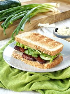 Smoky Baked Tofu Sandwiches with Wasabi Cashew Mayo