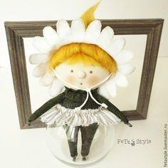 Купить Ромашка Девочка-цветок Кукла маленькая текстильная - кукла текстильная, куклы из ткани